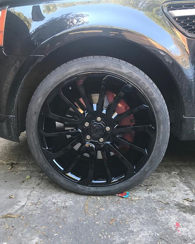 glossed black alloys