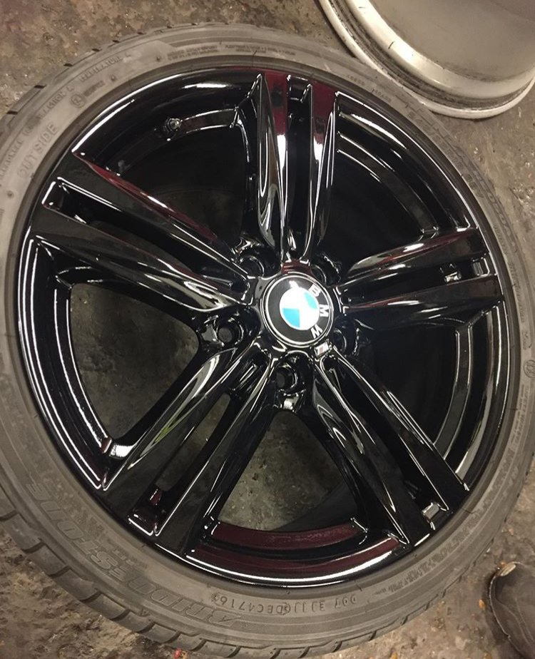 BMW black alloys